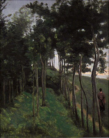 Jean-Baptiste Camille Corot  L'Allée des Rêves (The Alley of Dreams), c. 1855