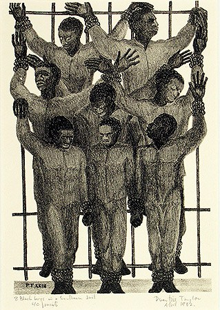 Prentiss Hottel Taylor Eight Black Boys in a Southern Jail, 1932