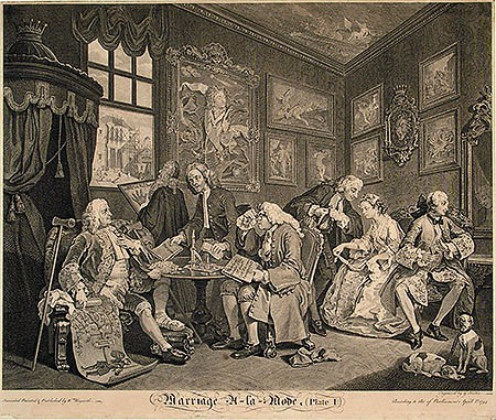 William Hogarth The Marriage Settlement, 1745
