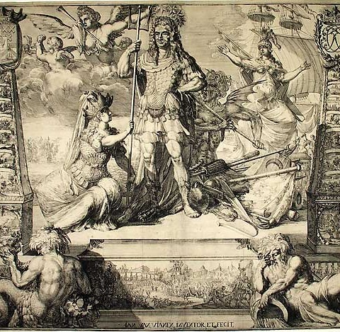 Jan van Vianen Cornelis Tromp (Allegorical Portrait as Neptune), c. 1700