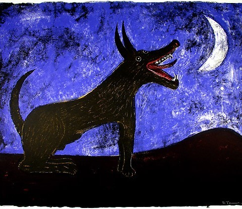Rufino Tamayo (b. Oaxaca, Mexico, 1899 - d. Mexico City, 1991) Moon Dog, 1972