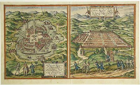 Hogenberg, Francis. City Plans of Mexico, 1572