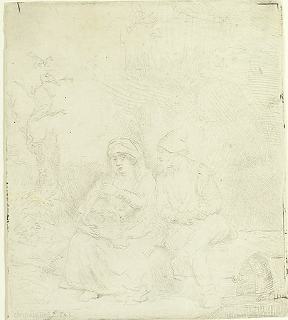 Rest on the Flight, Rembrandt van Rijn, 1645, Gift of Mr. Stanley Schneider