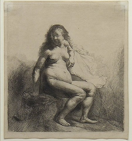 Seated Female Nude, Rembrandt van Rijn, c. 1631, Gift of Dr. and Mrs. Stanley H. Schneider