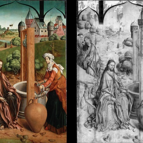 Fernando Gallego, Christ and the Samaritan Woman, 1480-1488. Gift of the Samuel H. Kress Foundation.