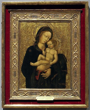 Madonna and Child, by a follower of  Michele Giambono, c. 1450