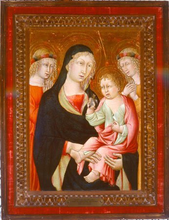 Madonna and Child with Angels, Studio of Giovanni di Paolo, c. 1475