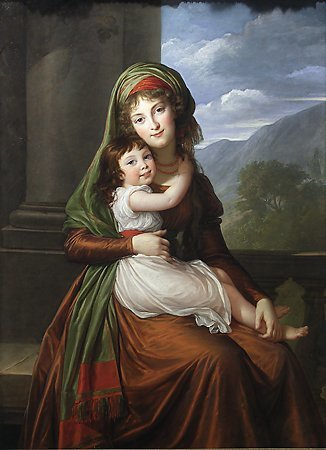 The Countess von Schönfeld and Her Daughter, Elisabeth Louise Vigée-Lebrun, 1793