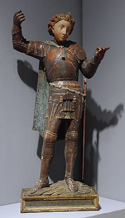 Saint Michael the Archangel, by an unknown Italian artist, mid 15th-century