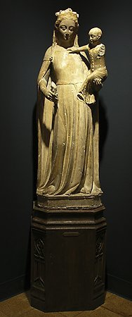 Virgin and Child, by an unknown  French artist, second half of the 14th century