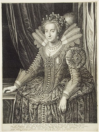 Boetius Adams Bolswert after the painting by Michiel van Miereveld, Elizabeth, Princess of England, Wife of Frederick V, Elector Palatinate, 1613