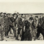 """Kollwitz, Kathe, Weberzug (Weavers on the March), 1897 Museum Purchase with Funds Provided By the Edward J. Gallagher, Jr. Memorial Fund Etching, 8 3/5"""" x 12"""" © 2013 Artists Rights Society (ARS), New York / VG Bild-Kunst, Bonn"""