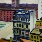"Hopper, Edward, The City, 1927 Gift of C. Leonard Pfeiffer Oil on canvas, 27 1/2"" x 37"""