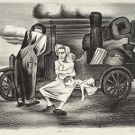 """Weller, Paul, Breakdown, 1935-1943 Allocated by the U.S. Government Commissioned through the New Deal art projects Lithograph, 12 1/2"""" x 17"""""""