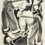 "Simpson, Marian, Men Digging, 1935-43 Allocated by the U.S. Government Commissioned through the New Deal art projects Lithograph, 16 1/5"" x 12"""