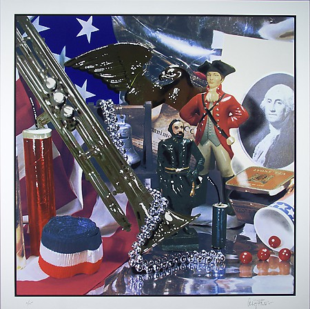 """Flack, Audrey, Fourth of July Still Life, 1976. Gift of Lorillard, a Division of Loews Theaters, Inc. Screenprint. 36 7/10"""" x 36 7/10"""""""