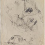Preparatory sketch for Winged  Victory print, 1977 Pencil on paper