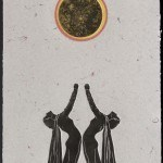 A Poem For Martha Graham (with total eclipse) from Suite on Dance, 1985  Mixed media on paper