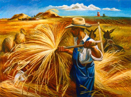 Joe Jones, Harvest, c. 1942, oil