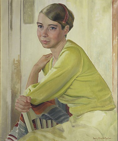 Lucy Drake Marlowe, Reverie, c.1930's oil on canvas