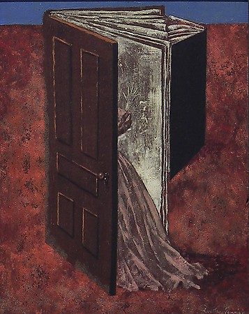 Dorthea Tanning, Porte-Feuille (Pocket-Book), 1946, oil on panel