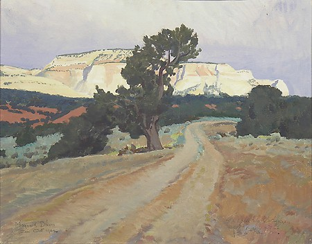 Maynard Dixon, Dry Creek Bottom, 1942, oil