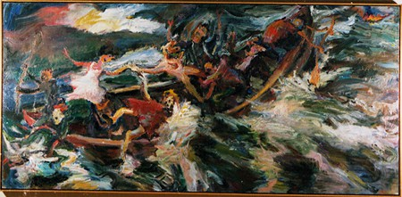 Chuck Connelly, Ship of Fools, 1987, oil