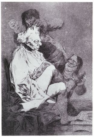 Francisco Goya, Esto si que es leer, 1799, Etching, burnished aquatint, and drypoint