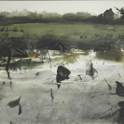 Wyeth, Andrew. Pioneer's Home (also, Pioneer House). 1955