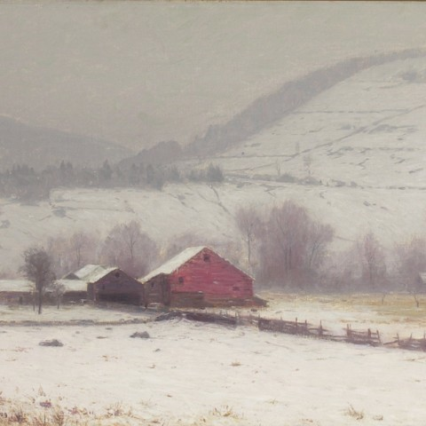 Harrison, Birge. Farmstead in Winter. ca. 1900