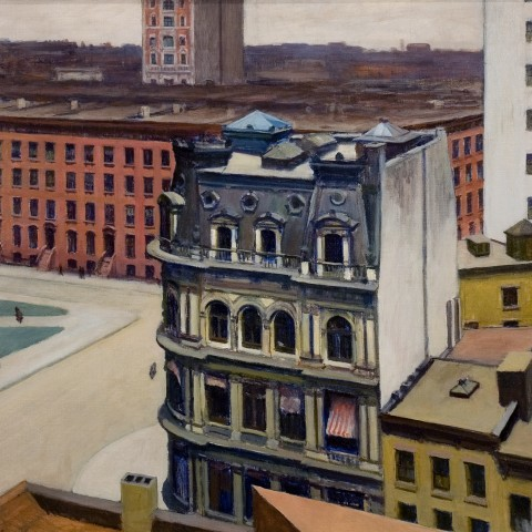 Hopper, Edward, The City, 1927; Oil on canvas, Gift of C. Leonard Pfeiffer.