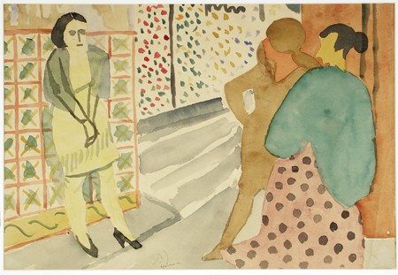 "Stuart Davis, ""Havana,"" 1920, Watercolor, Gift of James P. Gordon"