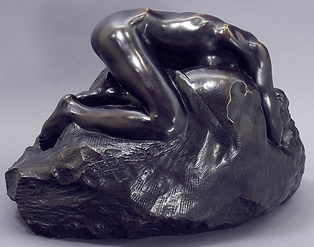 "Auguste Rodin, ""Danaide,"" ca. 1885, Bronze, Gift of Edward Joseph Gallagher, Jr. in Memory of Edward Joseph Gallagher, Ann Hay Gallagher, and Edward Joseph Gallagher III"