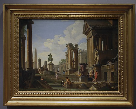 Giovanni Paolo Panini, A Capriccio of Classical Ruins, ca. 1750, Oil on canvas Museum Purchases with Funds Provided by the Edward J. Gallagher, Jr. Memorial Fund