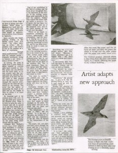 """""""Free Form Liberation Inspires the Ink and Press Design of Local Artist"""" by Terry Plumb, 1970 Page 2"""