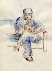 Portrait of Husband, 1973