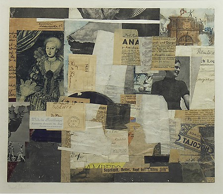 Kurt Schwitters, Collage, ca. 1934, Collage on paper,  Gift of Edward Joseph Gallagher, Jr.