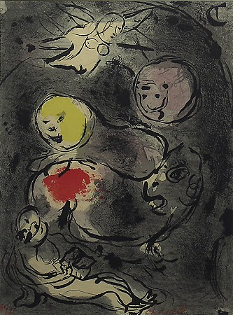 Marc Chagall, Prophet Daniel in the Lion's Den, 1930, Lithograph, Gift of George E. Woodruff
