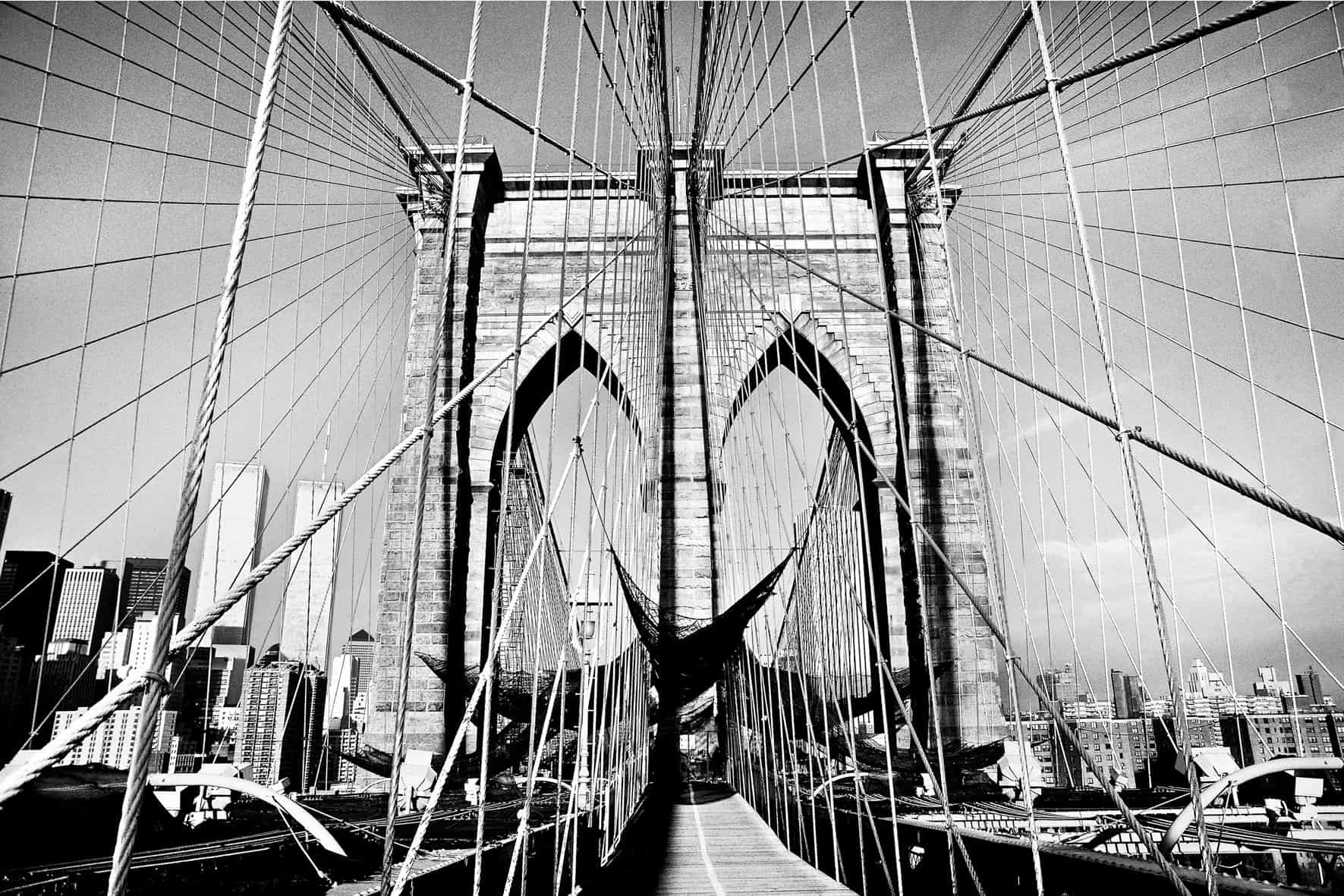 Burhan Doğançay, Brooklyn Bridge, New York, USA, 1986