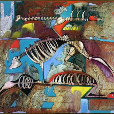 Emilio Cruz, Genetic Engineering, 1988, oil on canvas