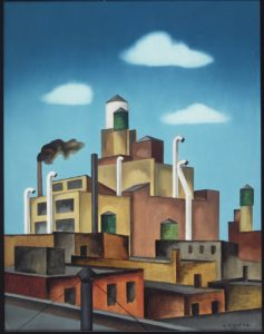 George Copeland Ault, Early Morning: New York (also, Portrait of a City), 1946