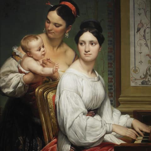 Portrait of the Marchesa Cunegonda Misciattelli with Her Infant Son and His Nurse
