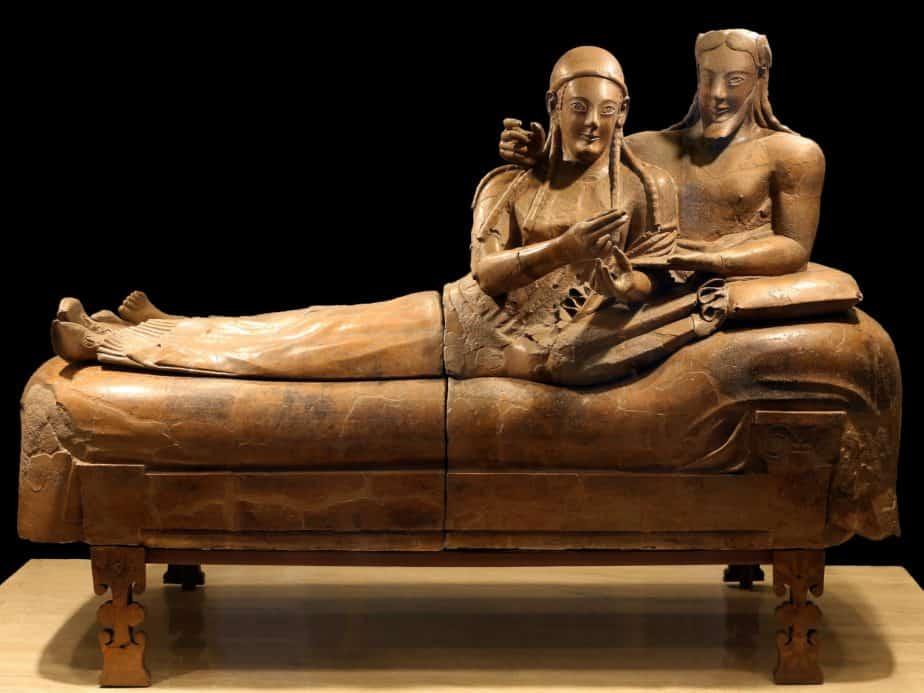 Anonymous Etruscan artist, Sarcophagus of the Spouses, ca. 520 BCE, Museo Nazionale di Villa Giulia in Rome