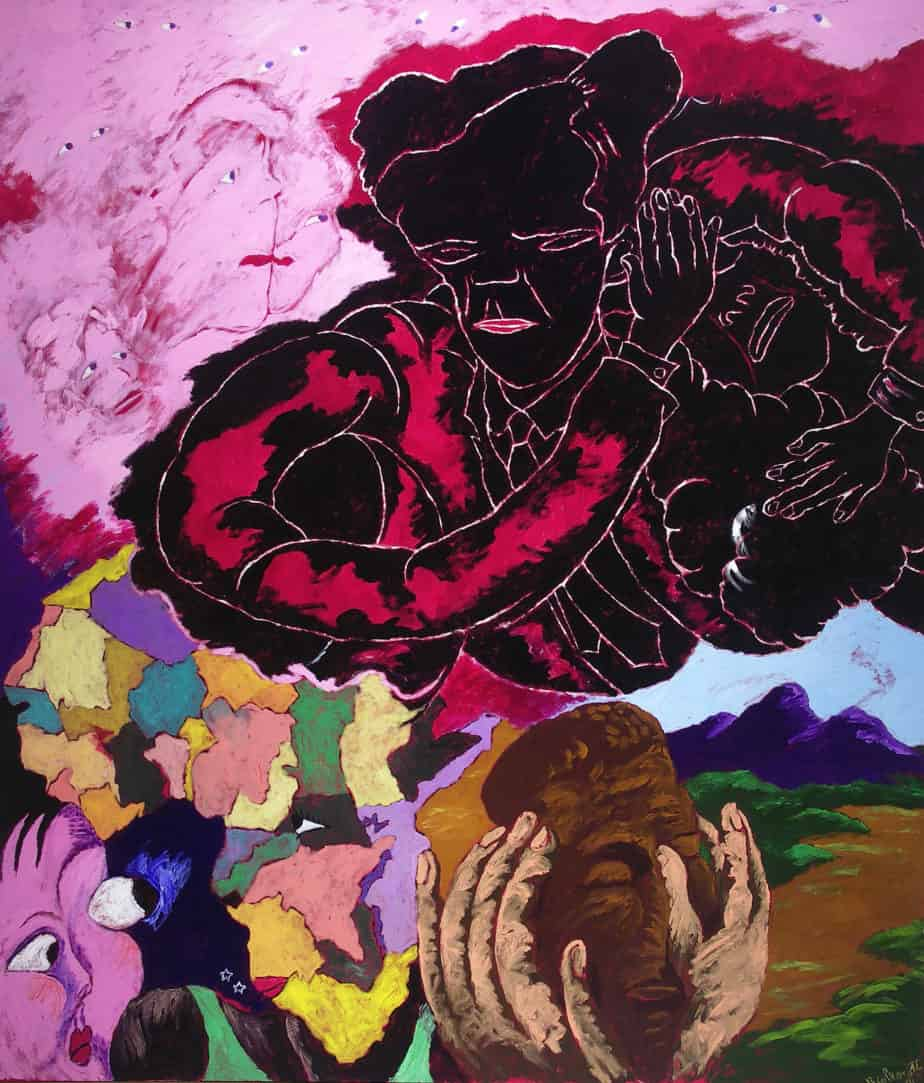 Robert H. Colescott, Beauty Is Only Skin Deep, 1991, Acrylic on canvas, Museum Purchase with Funds Provided by the Edward J. Gallagher, Jr. Memorial Fund