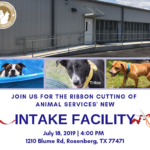 Residents invited to ribbon cutting ceremony for Animal Services' new intake facility