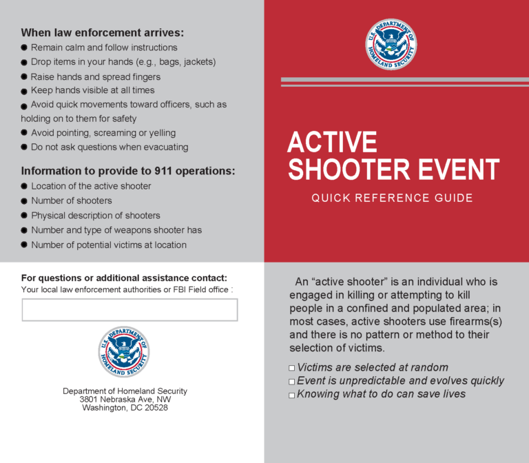Active Shooter Pamphlet