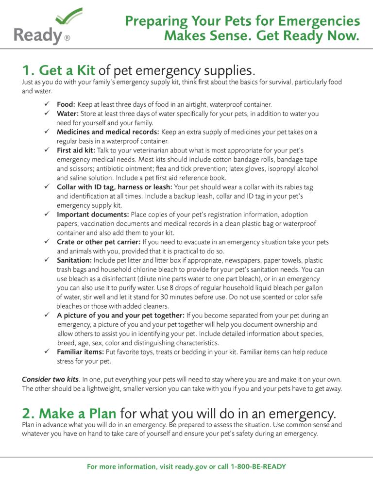 Pet Owners Fact Sheet