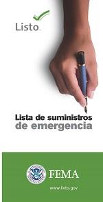 Lista de suministros de emergencia