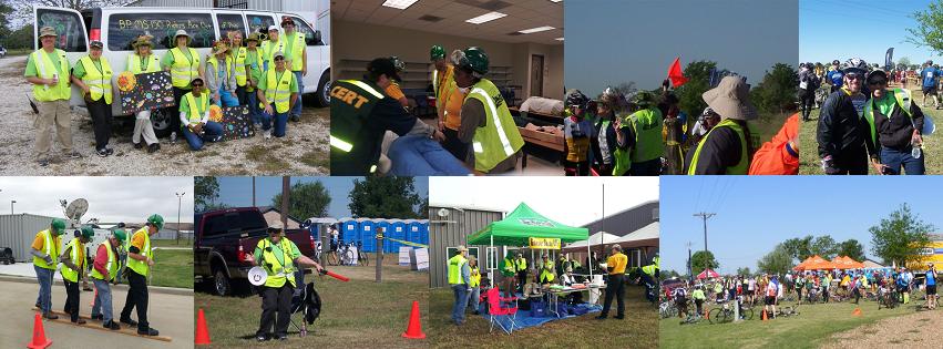 CERT members training for disaster response.