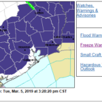 3.5.19 – Freeze Warning is in Effect from Midnight Tonight to 8 AM Wednesday.